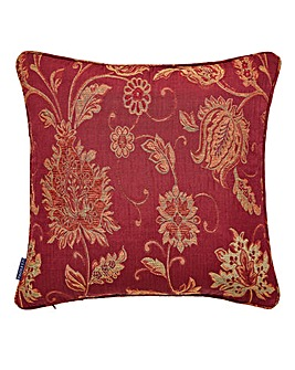 Zurich Patterned Cushion Burgundy