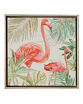 Flamingo Framed Canvas