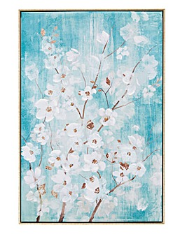 April Blossom Framed Canvas
