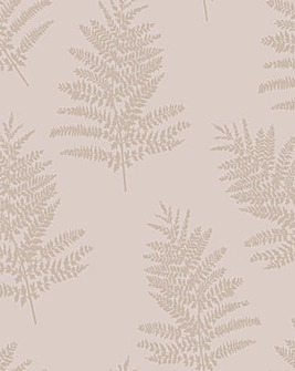 Metallic Fern Wallpaper