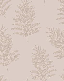 Metallic Fern Wallpaper