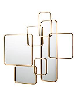 Interlocking Gold Mirror