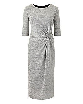 Petite Shimmer Jersey Twist Knot Dress
