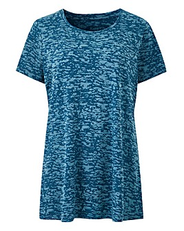 Teal Burnout T Shirt