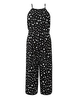Petite Foil Star Print Jumpsuit