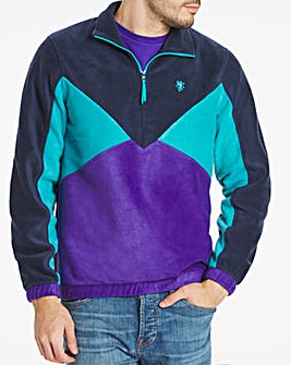 Half Zip Funnel Polarfleece Sweat