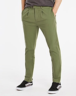 Pleat Front Stretch Chino