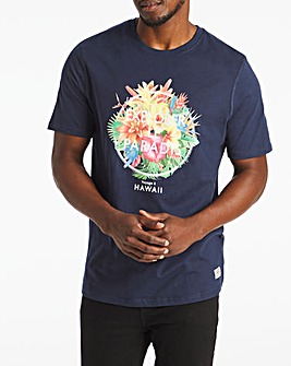 Flower Graphic T-Shirt Long