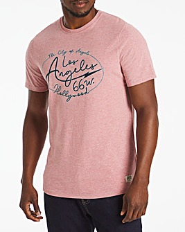 Los Angeles Script Graphic T-Shirt Long
