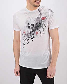 Sublimation Skull Graphic T-Shirt Long