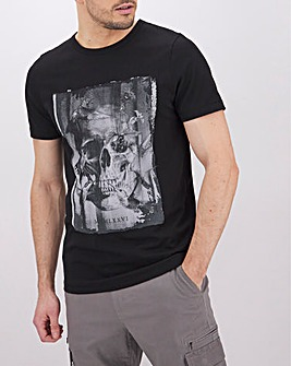 Skull Graphic T-Shirt Long