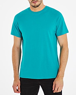 Bright Teal Crew Neck T-Shirt Long