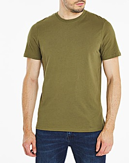 Khaki Crew Neck T-Shirt