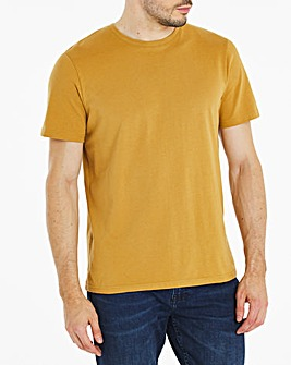 Mustard Crew Neck T-Shirt Long