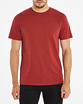 Rust Crew Neck T-Shirt Long
