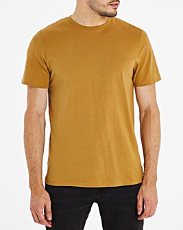Tan Crew Neck T-Shirt Long