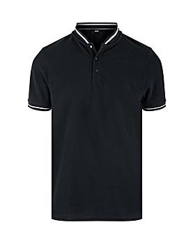 Baseball Collar Pique Polo
