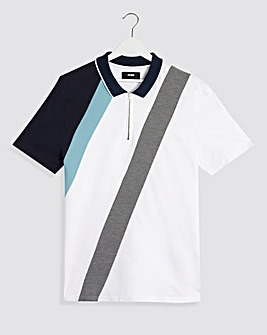 Zip Neck Cut & Sew Polo