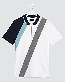 Zip Neck Cut & Sew Polo