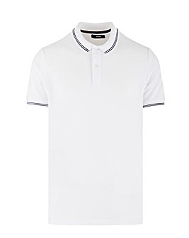 White Jaquard Polo