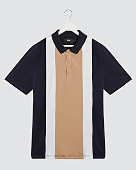Vertical Stripe Polo
