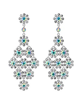 Mood Crystal Floral Statement Earring