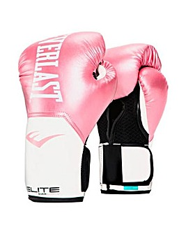 Everlast Womens Elite Pro Style 10oz Glove - Pink  and White