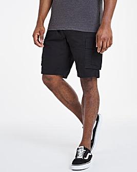 Black Fully Elasticated Axel Shorts
