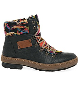 Rieker Emerald Womens Hiker Ankle Boots