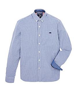 Raging Bull Mighty Mini Gingham Check Long Sleeve Shirt