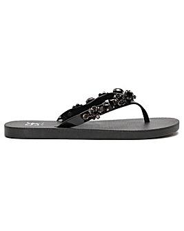Daniel Crystoe Embellished Flip Flops