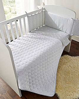 Clouds & Raindrops Coverlet