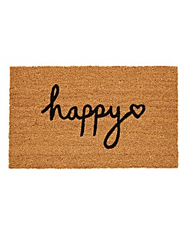 Happy Heart Coir Doormat