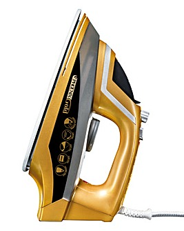 JML 2200W Phoenix Gold Ceramic Steam Iron with Built-In Steam Generator