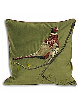 Riva Hunter Velvet Cushion