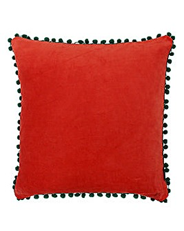 Riva Pom Pom Trim Cushion