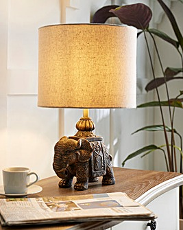 Ornate Elephant Table Lamp