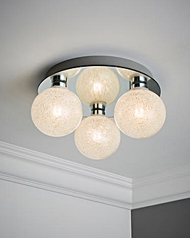 Glass Orb Ceiling Light