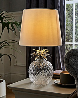 Glass Pineapple Table Lamp