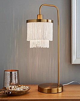 Two Tier Fringe Table Lamp
