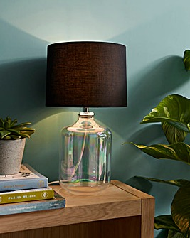 Iridescent Glass Table Lamp