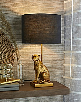 Leopard Base Table Lamp