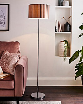 Pleated Shade Floor Lamp