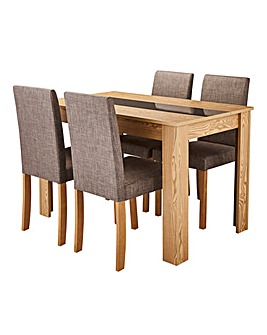 Dakota Dining Table and 4 Chairs