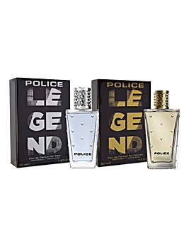 Police Legend Man & Woman EDP BOGOF