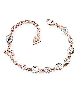 Guess Crystal Bracelet - Rose-tone