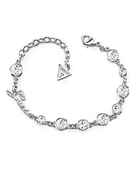 Guess Crystal Bracelet - Rhodium