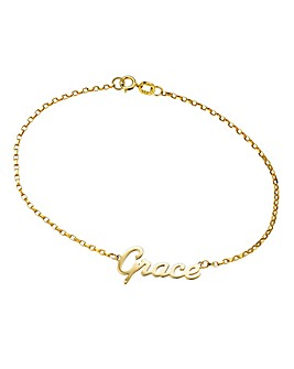 9 Carat Gold Personalised Bracelet