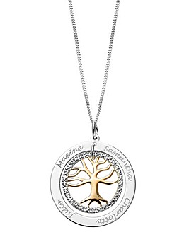 Personalised Diamond Family Tree Pendant