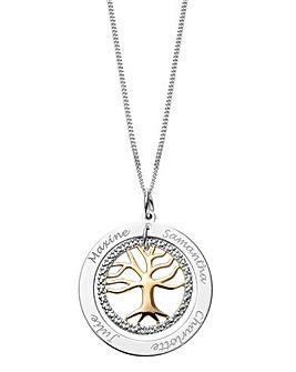 Personalised Diamond Family Tree Pendant